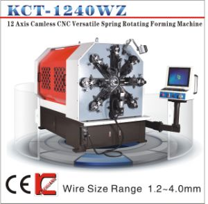 Kct-1240wz 4mm 12 Axis Camless CNC Versatile Spring Rotating Forming Machine&Extension/Flat Wire Spring/Scall/Spring Making Machine pictures & photos