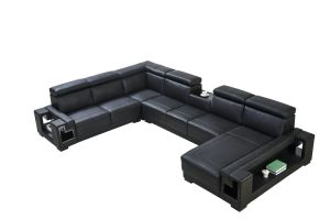 Made in China New Model Living Room Full Grain Genuine Modern Leather Sofa pictures & photos