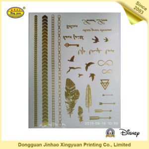 Gold Shining Body Tattoo Stickers for Girls (JHXY-TT0018)