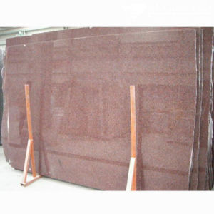 Imported India Red Polished Granite Slab for Countertop pictures & photos