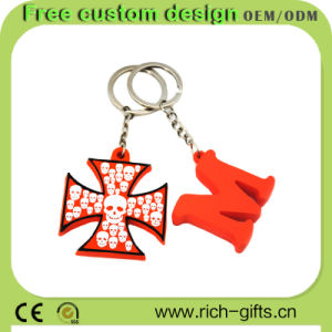Promotion Gifts Rubber Key Chains Tourism Souvenir OEM (RC-KC04)