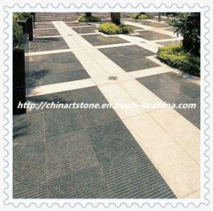 China Grey Black Flamed Granite Floor Tile for Outside Room pictures & photos