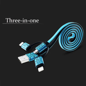 Multifunctional 3 in 1 USB Data Cable for iPhone & Samsung