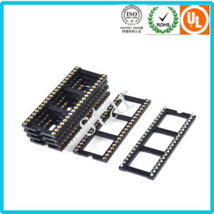 Factory Custom 2.54mm 40 Pin Double Row Pin Header IC Socket pictures & photos