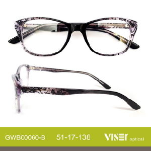 Acetate Optical Frame Eye Glass Eyeglass Frames with New Design (60-C) pictures & photos