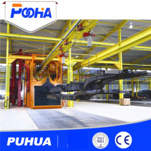 Overhead Continuous Chain Shot Blasting Machine for Auto Motor Cover pictures & photos