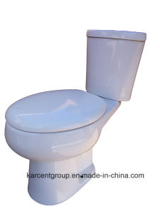 Two Piece Ceramic Toilet Ce Washdown Water Closet Wc 1011 pictures & photos