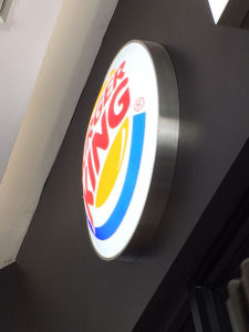 Burger King Restaurant Wall Mounted LED Blister Acrylic Lightbox pictures & photos
