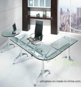 Clear Tempered Office Executive Glass Desk pictures & photos