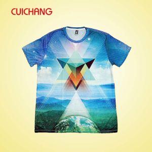 Custom Tshirt, Full Sublimation Printing Crewneck Tshirt, Heat-Transfer Printing Tshirt pictures & photos