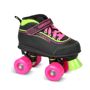 Soft Boot Quad Roller Skate for Kids (QS-38) pictures & photos