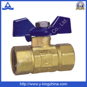 Pn25 Brass Butterfly Ball Valve with ISO Thread (YD-1020) pictures & photos