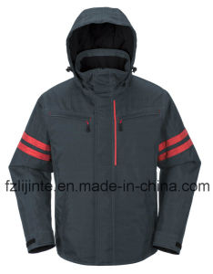 Winter Industrial Workwear Safety Jacket with Relfective Tapes pictures & photos