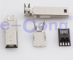Mini USB Solder Connector on-The-Go (OTG) Mini-B Male pictures & photos