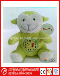 China Manufacture of Plush Toy Lamb with Clock pictures & photos