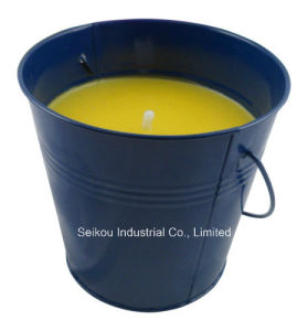 Color Painted Citronella Bucket Candle with Handle (SK8085)