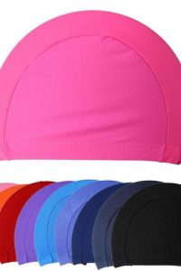 High Quality Polyester Cotton Swimming Cap pictures & photos