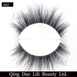 Wholesale Factory Round Box 3D Mink Eyelashes Custom Package Mink Fur Eye Lashes pictures & photos