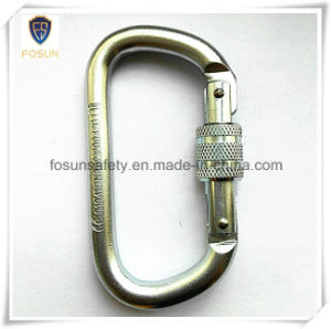 Alloy Steel Locking Carabiner of White Zinc Plating pictures & photos