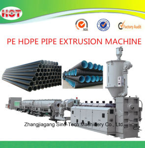 Plastic PE HDPE Pipe Production Line pictures & photos