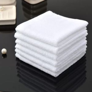 Custom Bath Towel Hotel Face Towel White 100% Cotton Towel