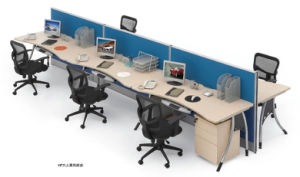 Modular Office Layout Computer Partition in Office Furniture pictures & photos