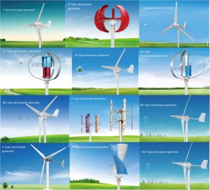 100W-600W Vertical Axis Generator Three Blades Aluminum Blades Wind Turbine pictures & photos