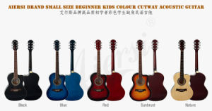 Aiersi Brand Cutway Lindenwood Body Colour Acoustic Guitar (SG026C-36) pictures & photos