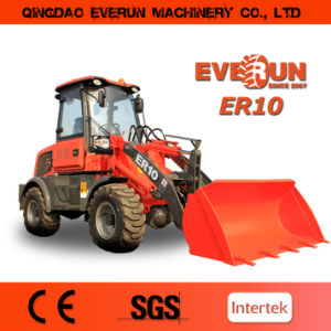 Er10 (1.0Ton) Mini Front End Loader with Hydraulic Pallet Forks pictures & photos