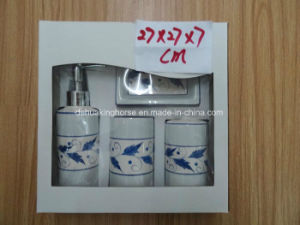 4PCS Ceramic (dolomite) Bath Set with Gift Box Packing pictures & photos