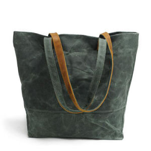 Newest Simple Style Tote Bags with High Quality Canvas Handbag Ga02 pictures & photos