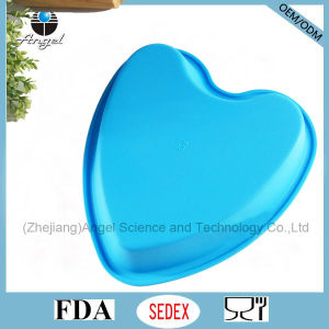 "Cheap Big Heart 8.5"" Microwave Silicone Muffin Mould Sc58"