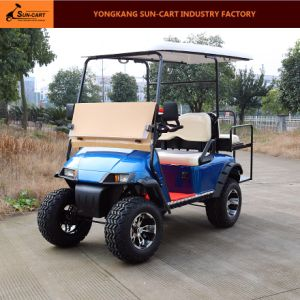 Four Passenger Electric Hunting Golf Cart (folding windshield) pictures & photos