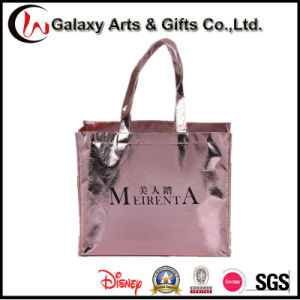 Promotional Laminated Plastic Coated No Woven Shopping Bag for Garment