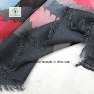 New Fashion Lady Scarf with Graffiti Color Printed Shawl pictures & photos