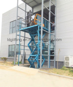 Stationary Hydraulic Scissor Goods Lifting Machinery (SJG5-5) pictures & photos