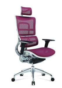Hot Sale White Frame Swivel Fabric Seating Ergonomic Office Chairs pictures & photos