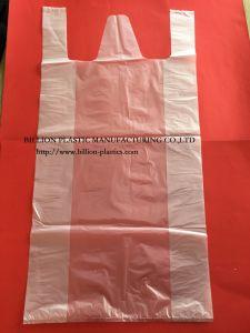 Transparent T-Shirt Bag Shopping Bag Hand Bag Gusset Bag Carrier Bag Garbage Bag Rubbish Bag pictures & photos