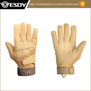 Tactical Military Half-Finger Airsoft Hunting Riding Cycling Gloves Tan Color pictures & photos
