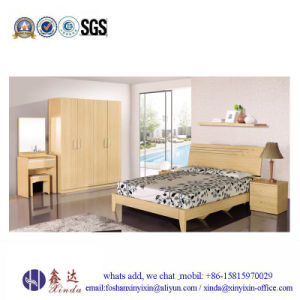 China White Color Single Bed Melamine Bedroom Furniture (SH041#) pictures & photos