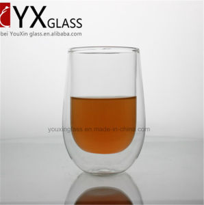400ml Clear Borosilicate Glass Double Wall Coffee Cup Tea Cup for Sale pictures & photos