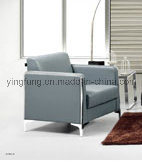New Design Office Sofa with Stainless Metal Base (SF-6073) pictures & photos