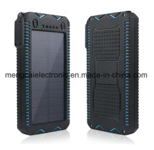 12000mA Polycrystal Silicon Solar and Plug-in Charging Dual USB 2 Torch Waterproof Dustproof with Cigar Lighter Ce FCC RoHS Certified Rechargeable Power Bank pictures & photos