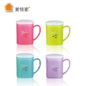 Metka Household Plastic Square Colorful Cup (with lid) pictures & photos