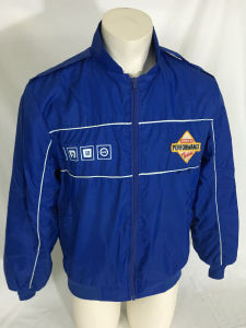 Blue Full Zip America′s Bomber Jacket (A676)