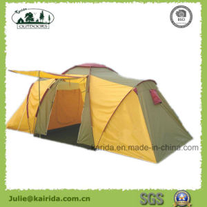 4 Person Family Camping Tent with 2 Bedrooms 1 Living Room pictures & photos