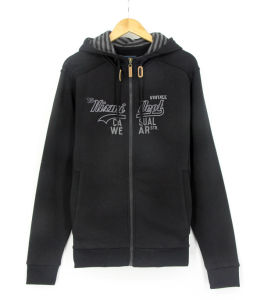 Ss17 New Design Men Cotton Fleece French Loopback Embroidery Zipthrough Sweatshirts Hoodies pictures & photos