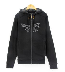 Ss17 New Design Men Cotton Fleece French Loopback Embroidery Zipthrough Sweatshirts Hoodies