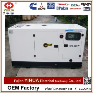 30kw/37.5kVA Silent Type Diesel Generator Set with Lovol Engine pictures & photos