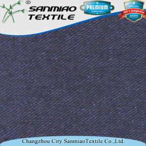 Indigo 330GSM Twill Knitted Denim Jean Fabric pictures & photos